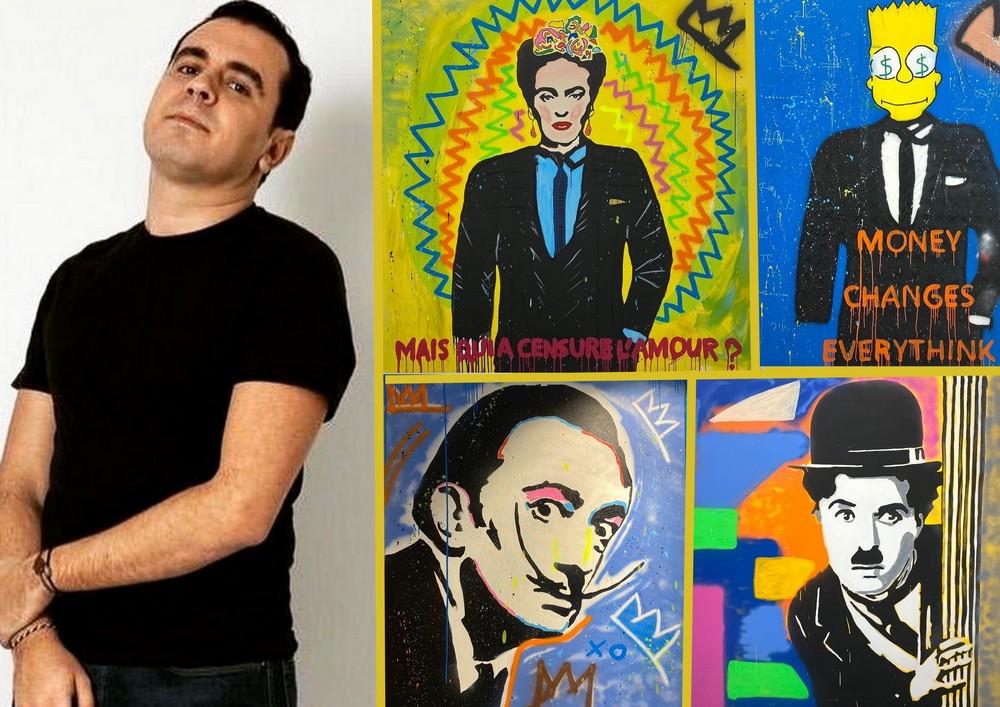 Driss benwahoud, le prince du street pop art, signe chez artem ...